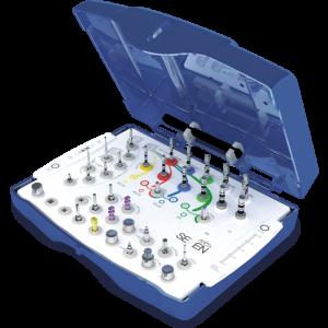Имплантологический  набор инструментов для установки имплантатов Seven