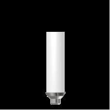 Прямой пластиковый абатмент с металической основой  без  шестигранника