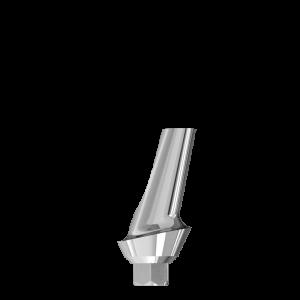 Эстетический угловой  абатмент 15° с шейкой 1 мм