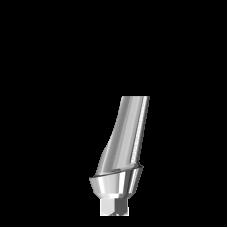Угловой титановый абатмент15° с шейкой 2 мм