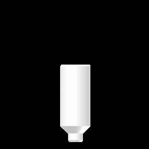 Широкий пластиковый абатмент без шестигранника