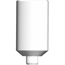 Прямой пластиковый абатмент без шестигранником, широкая платформа