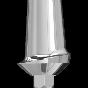 Широкий прямой эстетический абатмент с шейкой 1 мм